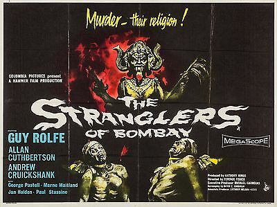 """The Stranglers of Bombay 16"""" x 12"""" Repro Movie Poster Photograph"""