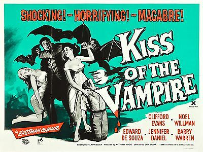 """Kiss of the Vampire 16"""" x 12"""" Repro Movie Poster Photograph"""