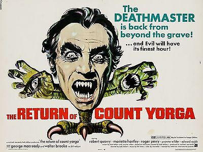 """The Return of Count Yorga 16"""" x 12"""" Reproduction Movie Poster Photograph"""