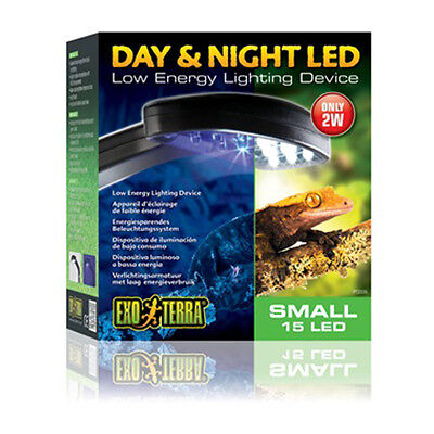Exo Terra Day & Night LED Fixture Small & Large Vivarium Reptile Terrarium Light