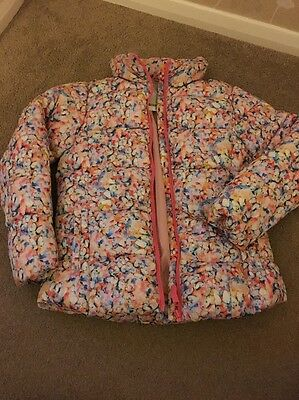 Girls Next Winter Coat Floral Butterfly Age 11 Bnwt