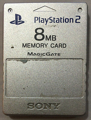 Sony Playstation 2 Genuine 8 Mb Memory Card For The Playstation 2 / Ps2