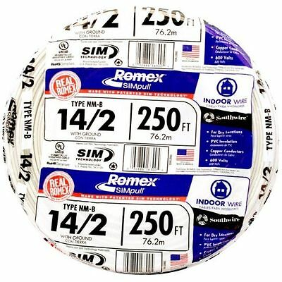 250' 14-2 w/ Ground Southwire Real Romex Simpull NM-B Indoor Electrical Wire