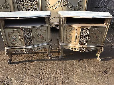 Pair Of French, Antique, Vintage, Shabby Bedside Tables, Very Rare!