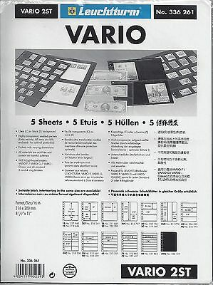 New Vario Stock Sheets 2ST Two-Sided Four Pockets Black Pkg. 5