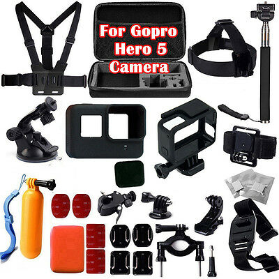 30 in 1  Accessories+Protective Frame+Cover+Lens Cover For GoPro Hero 5 Camera