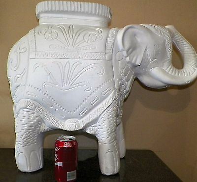 """Porcelain Elephant Plant Stand Patio Accent End Table 20"""" Tall"""