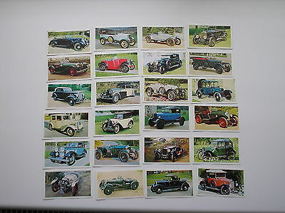 Full Set 24 Cards Golden Age Of Motoring  Sharman Newspapers