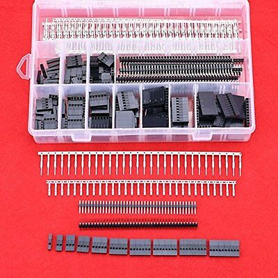 Hilitchi 635 Pcs 40 Pin 2.54mm Pitch Single Row Pin Headers,Dupont Connector