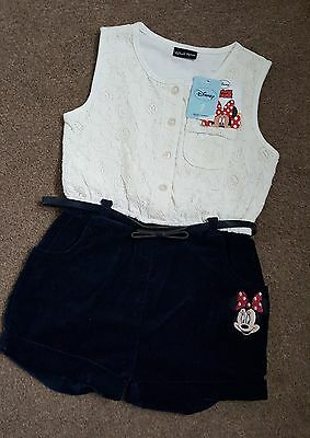 Disney Minnie Mouse All in One Party Outfit | Lace & Suede | 2-3 yrs | BNWT