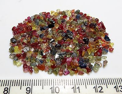 50ct NATURAL MINI SAPPHIRE rough NATURAL GEMSTONE LOTS red yellow blue green