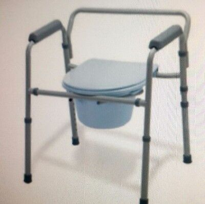 NEW Guardian 3in1 Steel Commode Easy Care, folding painted frame