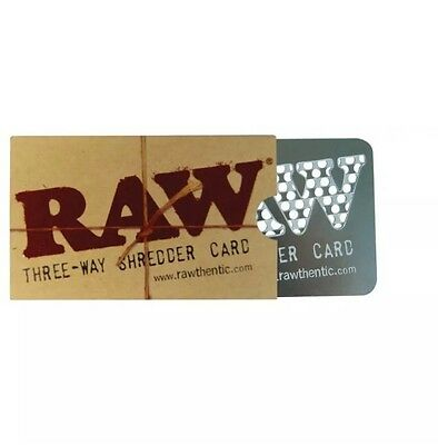RAW Three Way Shredder / Grinder Card Metal Natural Unrefined Rolling Papers