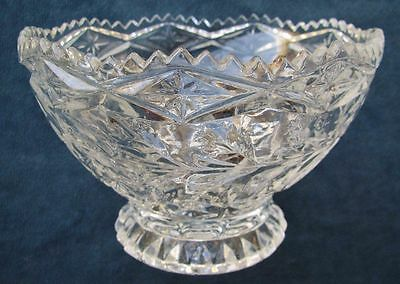 Beautiful Small Footed Lead Crystal Bowl