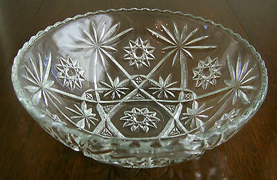 """Early American Prescut """"EAPC"""" Large Crystal Serving/Salad Bowl by Anchor Hocking"""