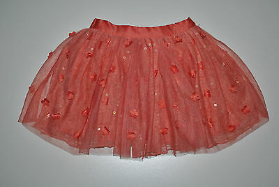 M&S AUTOGRAPH GIRL CORAL TUTU SKIRT 2-3 Years 98CM Party SKIRT