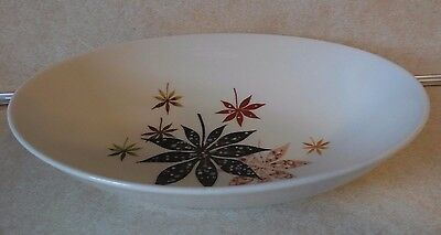 "Peter Terris Calico Leaves 9"" Oval Vegetable Serving Bowl"
