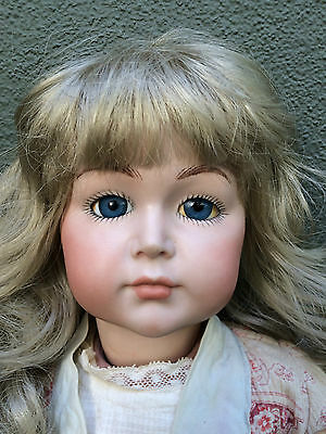 Simon and Halbig 70 Antique Bisque Reproduction Closed Mouth Doll with Old Body