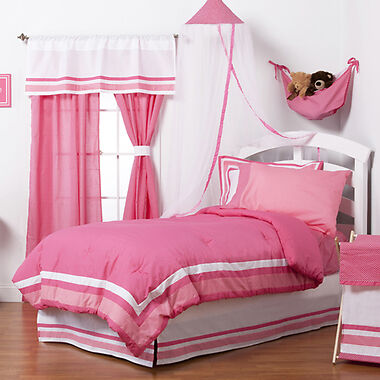 One Grace Place Simplicity Full Bedding Set, Hot Pink, 4 Piece