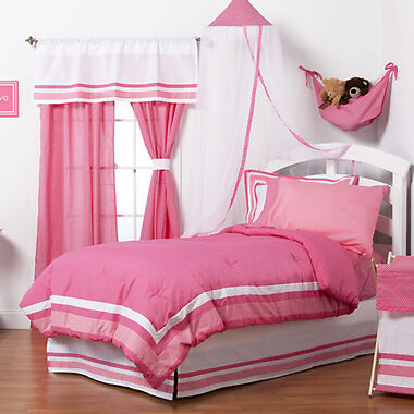 One Grace Place Simplicity Twin Bedding Set, Hot Pink, 3 Piece