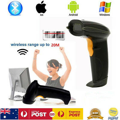 Wireless Bluetooth 2.4G Barcode Scanner Reader For Apple IOS Android Windows 7/8
