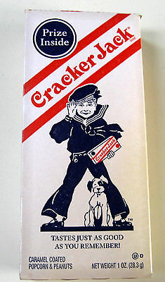 Vintage Replica Cracker Jack Box, Frito Lay Repro with prize inside.