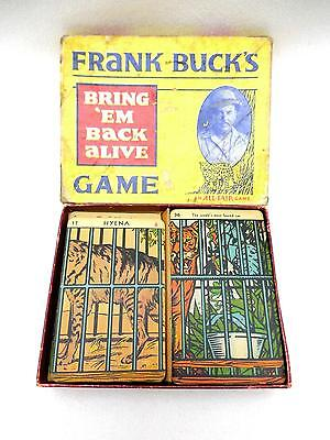 """1930's Frank Buck's  BRING """"EM BACK ALIVE An All-Fair Game COMPLETE 36 Cards"""