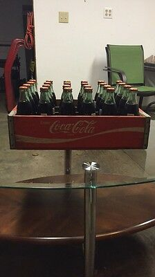 Vintage Coca Cola Wooden Crate With 24 Full Case Bottles