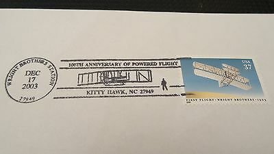 """Framed """"100TH Anniversary of First Powered Flight"""" US Postmark collectable"""