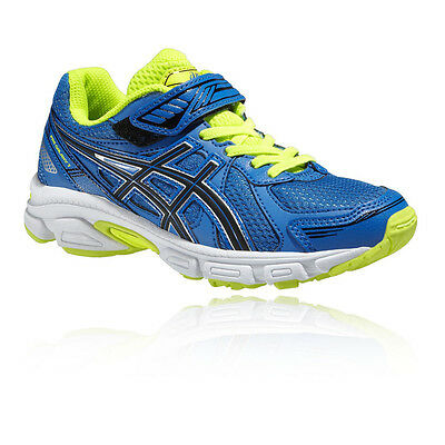 Asics Pre Galaxy 7 PS Junior Blue Cushioned Running Sports Shoes Trainers Pumps