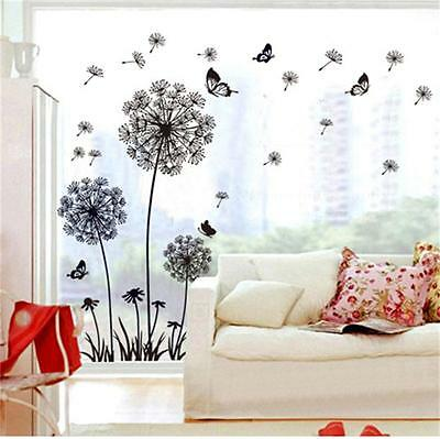 Dandelion Butterfly Removable Vinyl Wall Decal Mural Home Art DIY Decor Sticker