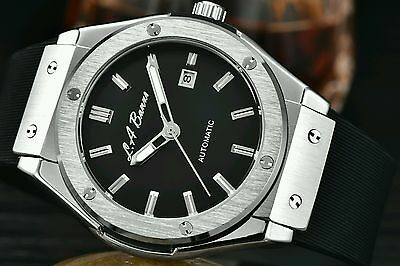Mens Big La Banus Automatic Watch Bang Stainless Steel Mechanical Black Tag Ap1
