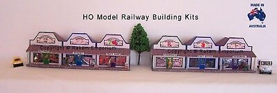 HO Scale Country Low Relief Shops x 6  Model Railway Building Kit LRG6