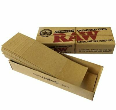 Raw Perforated Natural Unrefined Gummed Tips Paper Tobacco Cigarette Papers
