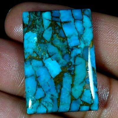 38.85Cts. Spider Web ! Natural Blue Turquoise Octagon Cabochon Loose Gemstones