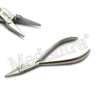 Classic Dental Premium Flat Round-Nose Serrated Pliers Orthodontic Wire Bending