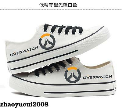 OW Overwatch Logo Canvas Shoes Casual Sneakers Men Women Cool