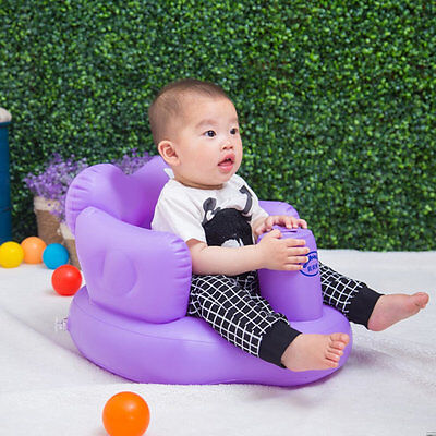 Multifunctional Inflatable Baby Sofa Learn Training Seat Bath Dining Chair LE