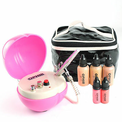 OPHIR Airbrush Makeup System Set & Foundation for Cosmetic Makeup Concealer