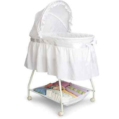 Baby Bassinet Stroller Close And Secure Baby Sleeper Delta Children's White