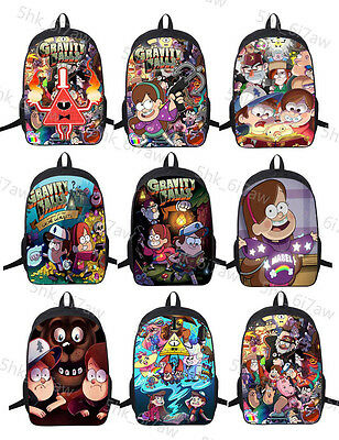 New Gravity Falls Backpack Teenage Children School Bag Mabel Dipper Shoulder Bag