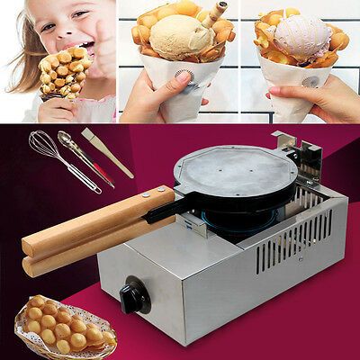 Very Gas Stainless Steel Cake Oven QQ Egg Bread Waffle Maker Baking S19T Machine