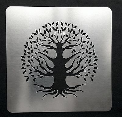 Tree of Life Stainless Steel Metal Stencil Template 7.5cm x 7.5cm