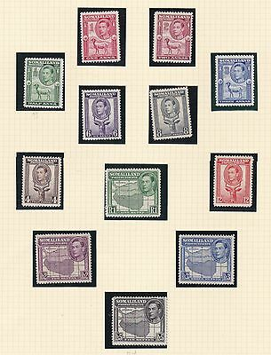 Somaliland 1938  S G  93 - 104   Set Of 12 To 5 R   M H  Cat £150