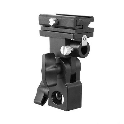 Flash Light Swivel Bracket Type B Hot Shoe Stand Mount Umbrella Holder Adapter