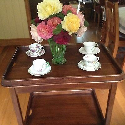 tea trolley butler's tray timber