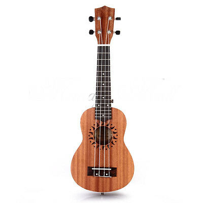 """* Brown 21"""" Ukulele Guitar Four String Acoustic Performance Musical Instrument"""
