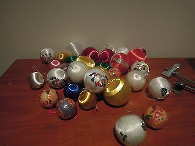 Vintage Christmas Tree  Baubles -  Faux Silk Balls Variety Ornaments/decorations