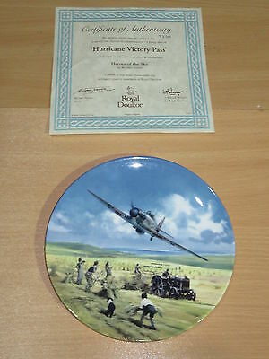 Royal Doulton Heroes Of The Sky Boxed Plate - Hurricane Victory Pass 753A