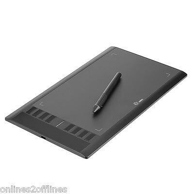 """UGEE 10""""x 6"""" Drawing Area Digital Art Graphics Draw Tablet with Rechargeable Pen"""